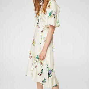 MANGO Floral Ruffled Dress - NWT